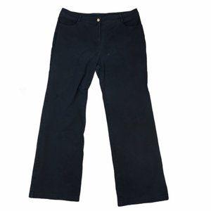 ST. JOHN Collection Black Jeans Straight Leg